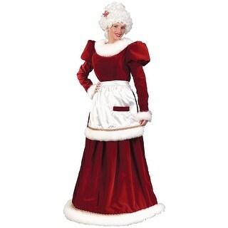 Santa Mrs Velvet Dress Costume - Red