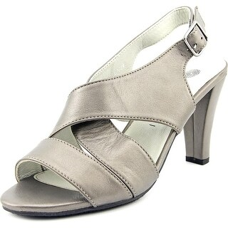 Eric Michael Rio Women Open Toe Leather Gray Sandals