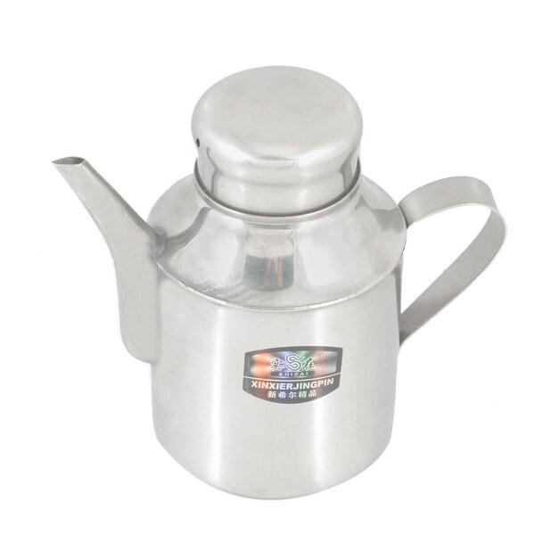 Unique Bargains Round Spout Handle Stainless Steel 110Z Water Kettle Pot Teakettle