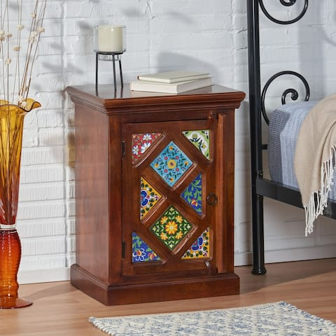 Pocatello Mango Wood Nightstand by Christopher Knight Home