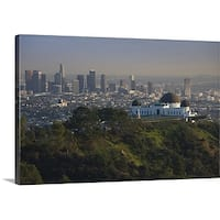 Premium Thick-Wrap Canvas entitled Observatory on a hill near downtown, Griffith park Observatory, Los Angeles,