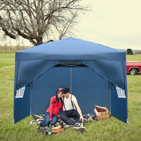 3 x 3m Two Doors & Two Windows Waterproof Right-Angle Folding Tent