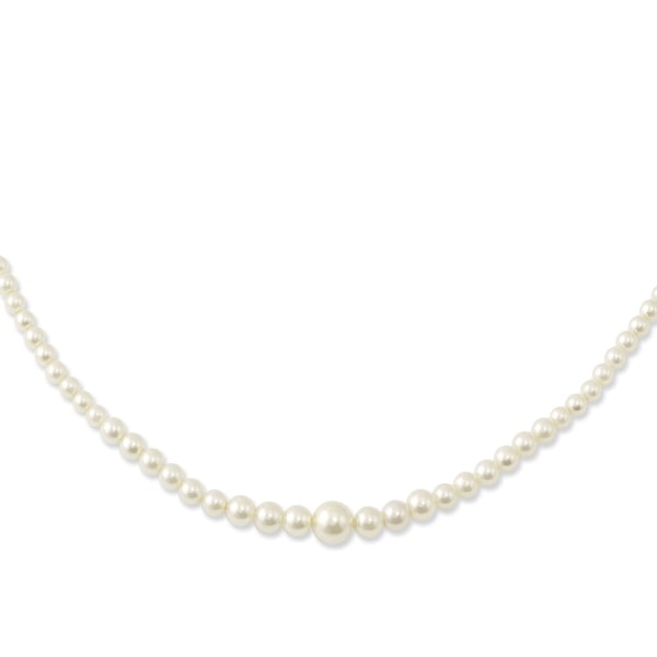 Goldtone Graduated Simulated Pearl Necklace - 18in