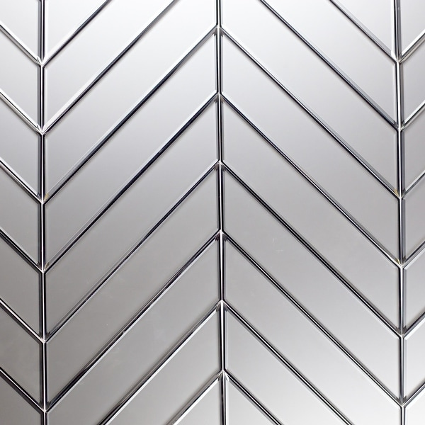 """Miseno MT-WHSREMSET-SI Reflections - 3-3/4"""" x 11-3/4"""" Other Wall Tile - Matte Visual - Silver"""