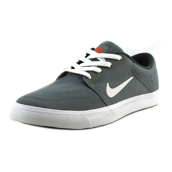 Nike SB Portmore Men Round Toe Synthetic Gray Skate Shoe