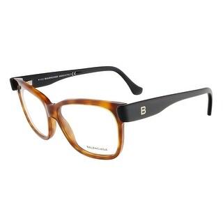 Balenciaga BA5003/V 053 Caramel Havana/Black Square prescription-eyewear-frames - caramel havana/black - 53-13-140