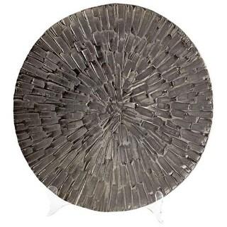 Cyan Design Large Flagstone Tray Flagstone 19.75 Inch Diameter Aluminum Tray Made in India