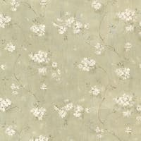 Brewster CTR44106 Dixie Green Floral Trail Wallpaper - Green Floral