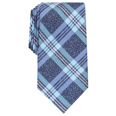 Perry Ellis Men's Duxbury Plaid Tie Navy Size Regular