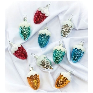 Link to STP Goods Pine Cones Glass Christmas Ornaments Set of 10 Similar Items in Christmas Decorations