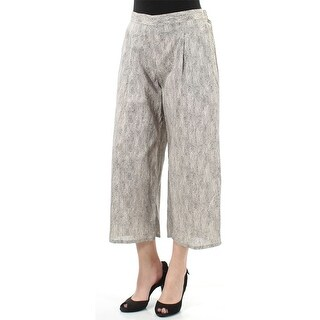 Eileen Fisher Natural Black Chainette Print Organic Cotton Wide Cropped Pants Size PM