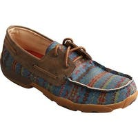 Twisted X Boots Men's MDM0062 Driving Moc Loafer Multi Serape/Bomber Canvas