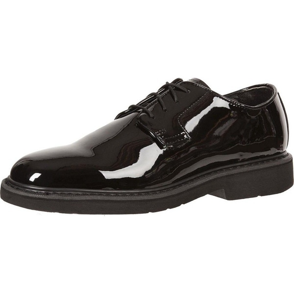 Rocky Work Shoes Mens High Gloss Leather Oxford Black