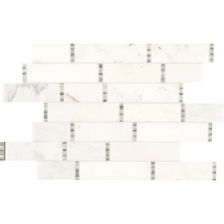Daltile M1118RDMSL  Marble Collection - Random Linear Mosaic Wall & Floor Tile - Polished Marble Visual