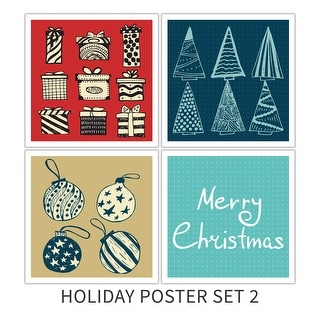 Holiday Poster Set 2 Holiday Poster Set Matte Poster 18x18