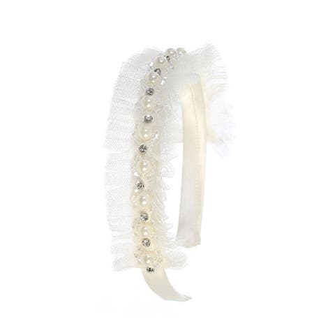 Kids Dream Ivory Tulle Pearl Headband - One Size