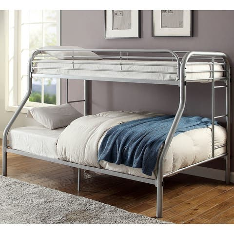 Furniture of America Loo Contemporary Twin/Full Metal Bunk Bed