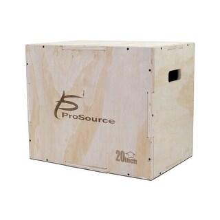 ProSource Wood Plyometric Jump Box for CrossFit and Plyo Workouts, 24/20/16 - Sandy Tan