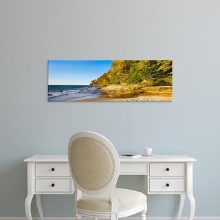 Easy Art Prints Panoramic Image 'Miner's Beach, Pictured Rocks National Lakeshore, Michigan' Canvas Art