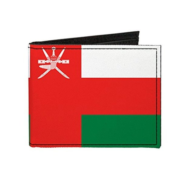 Buckle-Down Canvas Bi-fold Wallet - Oman Flag Accessory
