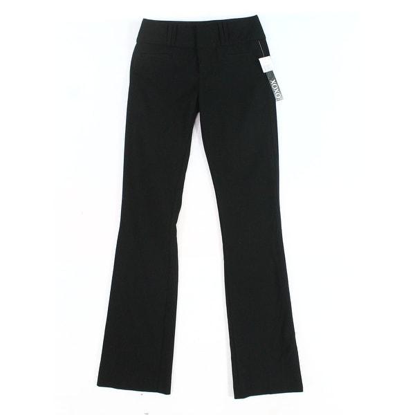 XOXO Deep Black Women's Size 5/6 Bootcut Tab Front Dress Pants