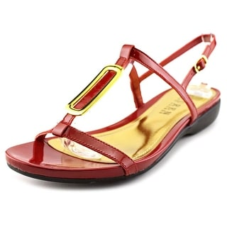 Lauren Ralph Lauren Kat Women Open-Toe Patent Leather Red Slingback Sandal