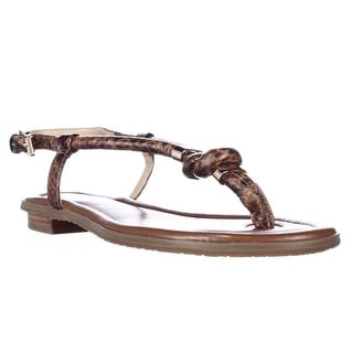 MICHAEL Michael Kors Holly T-Strap Sandals - Brown Snake