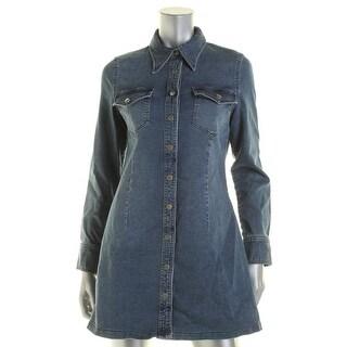 Bardot Womens Shirtdress Denim Long Sleeves