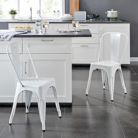 Modern Metal Dining Room Kitchen Bar Chair Set of 2