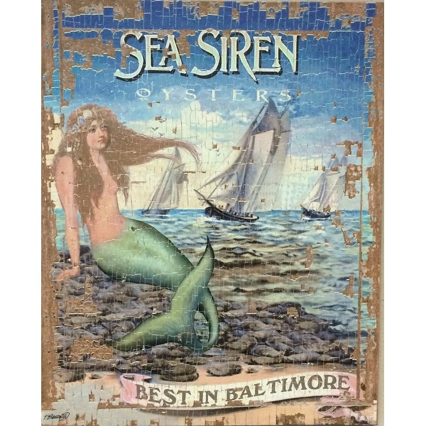 Shop Sea Siren Oysters Best In Baltimore 48 Inch Mermaid Nautical Magnificent Baltimore Bathroom Remodeling Decoration