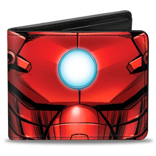 Marvel Avengers Iron Man Chest Arc Reactor Close Up Bi Fold Wallet - One Size Fits most