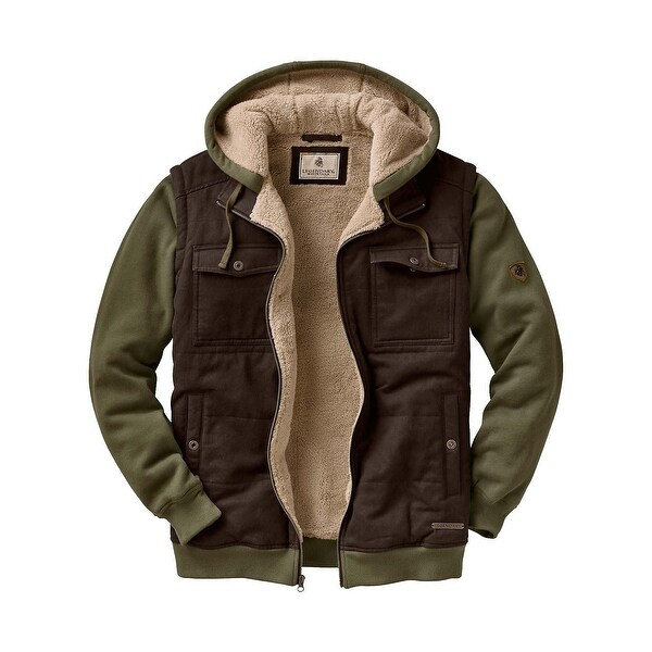 Legendary Whitetails Men's Treeline Sherpa Lined Hooded Jacket - Moss