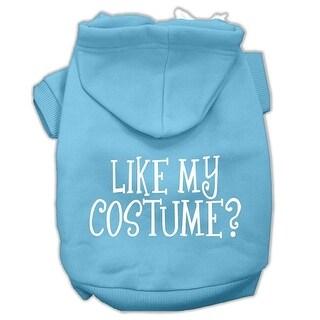 Like my costume? Screen Print Pet Hoodies Baby Blue Size XL (16)