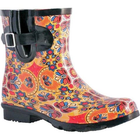 Nomad Women's Droplet Rain Boot Orange Lotus