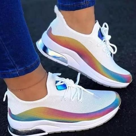 Colorful Breathable Walking Sneaker