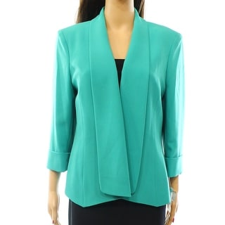 Calvin Klein Green Collared Wool Coat Free Shipping