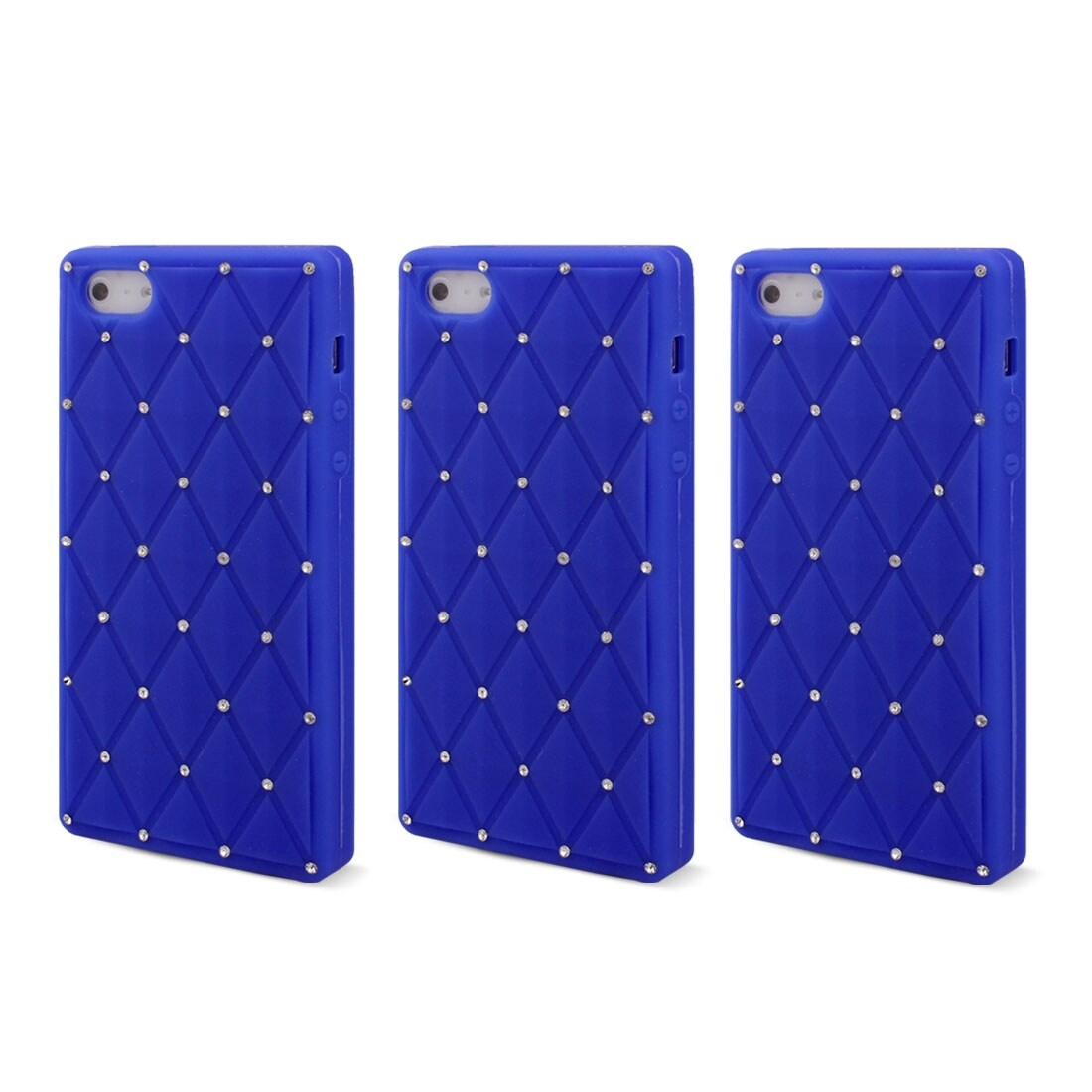 09e453a2b3 Shop Artificial Rhinestones Decor Back Case Cover Protector Blue 3 PCS for  iPhone 5 - Free Shipping On Orders Over $45 - Overstock - 18320998