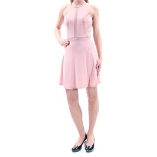 MATERIAL GIRL $59 Womens New 1247 Pink Illusion Inset Dress S Juniors B+B