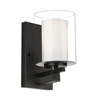 "Design House 578153 Impala Single Light 5-1/2"" Wide Bathroom Sconce with a Clear"