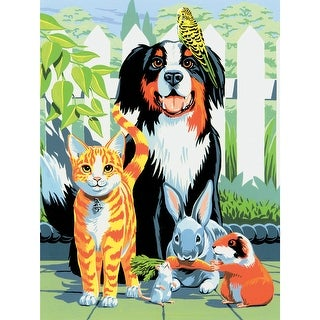 """Junior Small Paint By Number Kit 8.75""""X11.75""""-Family Pets"""