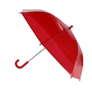 iRain Kids' Clear Plastic Bubble Dome Hook Handle Umbrella