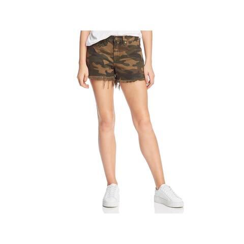 [BLANKNYC] Womens Denim Shorts High-Rise Cut-Off - Army of One