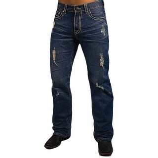 B. Tuff Western Denim Jeans Mens Hunter Relaxed Dark Wash