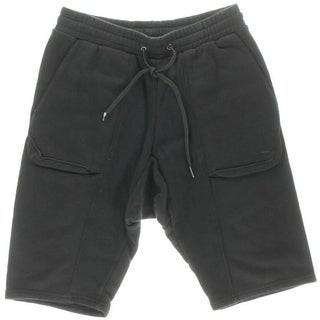 Black Apple Mens French Terry Tencel Casual Shorts