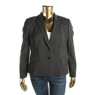 BOSS Hugo Boss Womens Jilina Two-Button Suit Jacket Wool Plaid