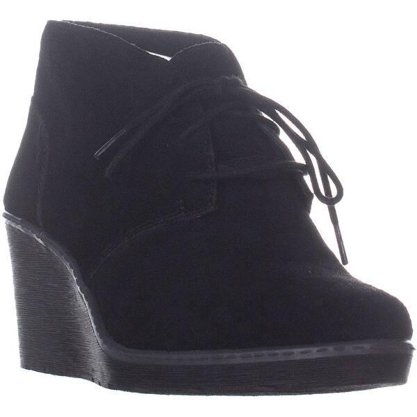 meet e9d66 acf51 Shop Clarks Hazen Charm Lace Up Wedge Ankle Boots, Black ...