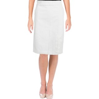 Lauren Ralph Lauren Womens Kaetlyn Straight Skirt Solid Denim