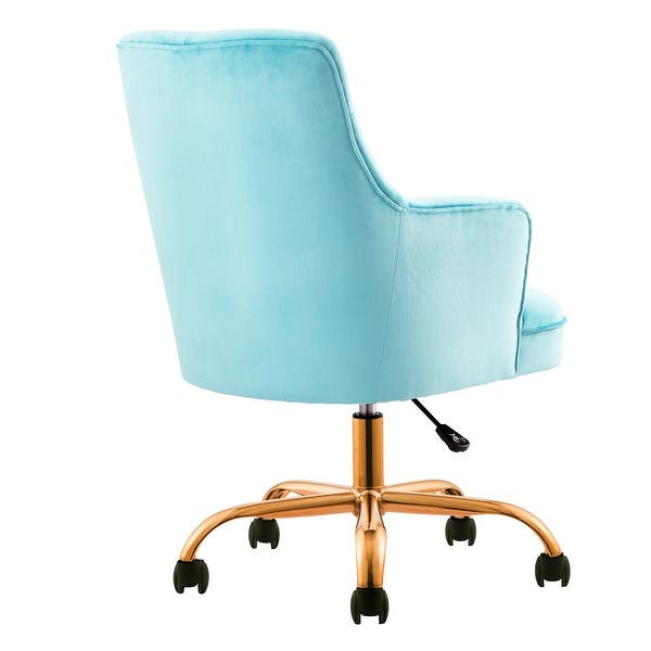 Shop Ovios Cute Desk Chair Plush Velvet Office Chair For Girl Or Lady Modern Nice Vanity Chair And Task Chair With Gold Base Overstock 30234169