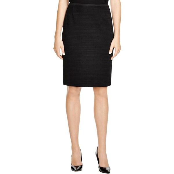 BOSS Hugo Boss Womens Matwine Pencil Skirt Lined Textured