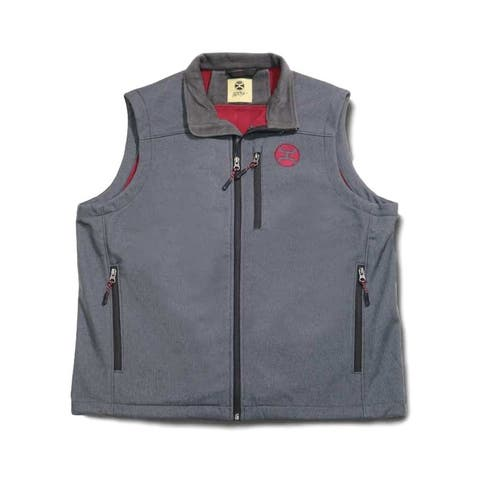 HOOey Vest Mens Zip Front Hand Pockets Fleece Lined Gray